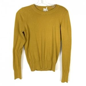 Forever 21 Mustard Yellow Crew neck Knit Sweater M